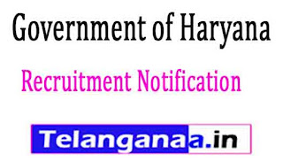 Government of Haryana Recruitment Notification 2017