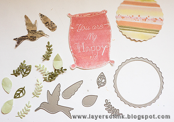 Layers of ink - Leather Paper Poppy and Gift Bag Tutorial by Anna-Karin