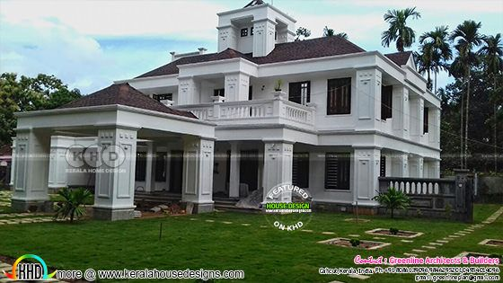 Finished Colonial house in Kerala