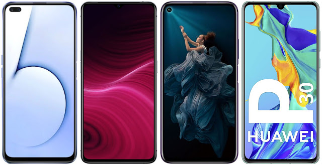 Realme X50 5G vs Realme X2 Pro vs Honor 20 Pro vs Huawei P30