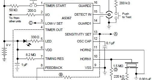 ionization smoke detector using a5367 | diagram for reference ionization smoke alarms diagram residental wiring smoke detectors diagram