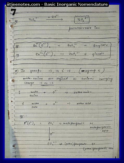 Inorganic Nomenclature7