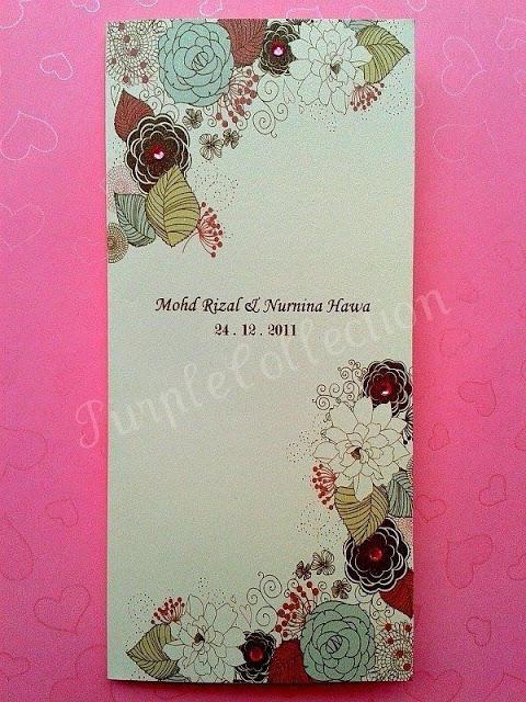 Handmade Malay Wedding Invitation Card, kad kahwin, floral, flower, bunga, rhinestone, printing, marriage, indian, western, style, unique, special, modern, kuala lumpur, malaysia, online