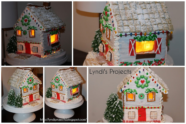 how to elevate a gingerbread house