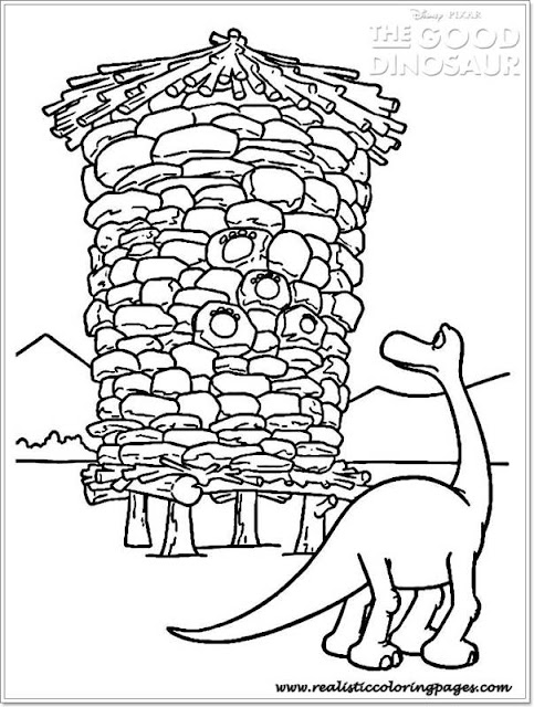 good dinosaur coloring pages for toddler