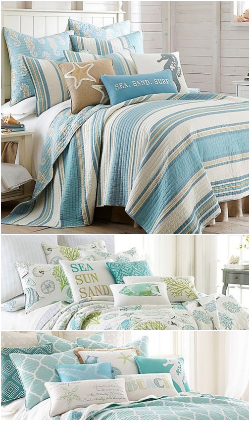 Coastal Beach Blue Bedding