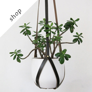 Recycled Leather Plant Hanger | BlisscraftandBrazen