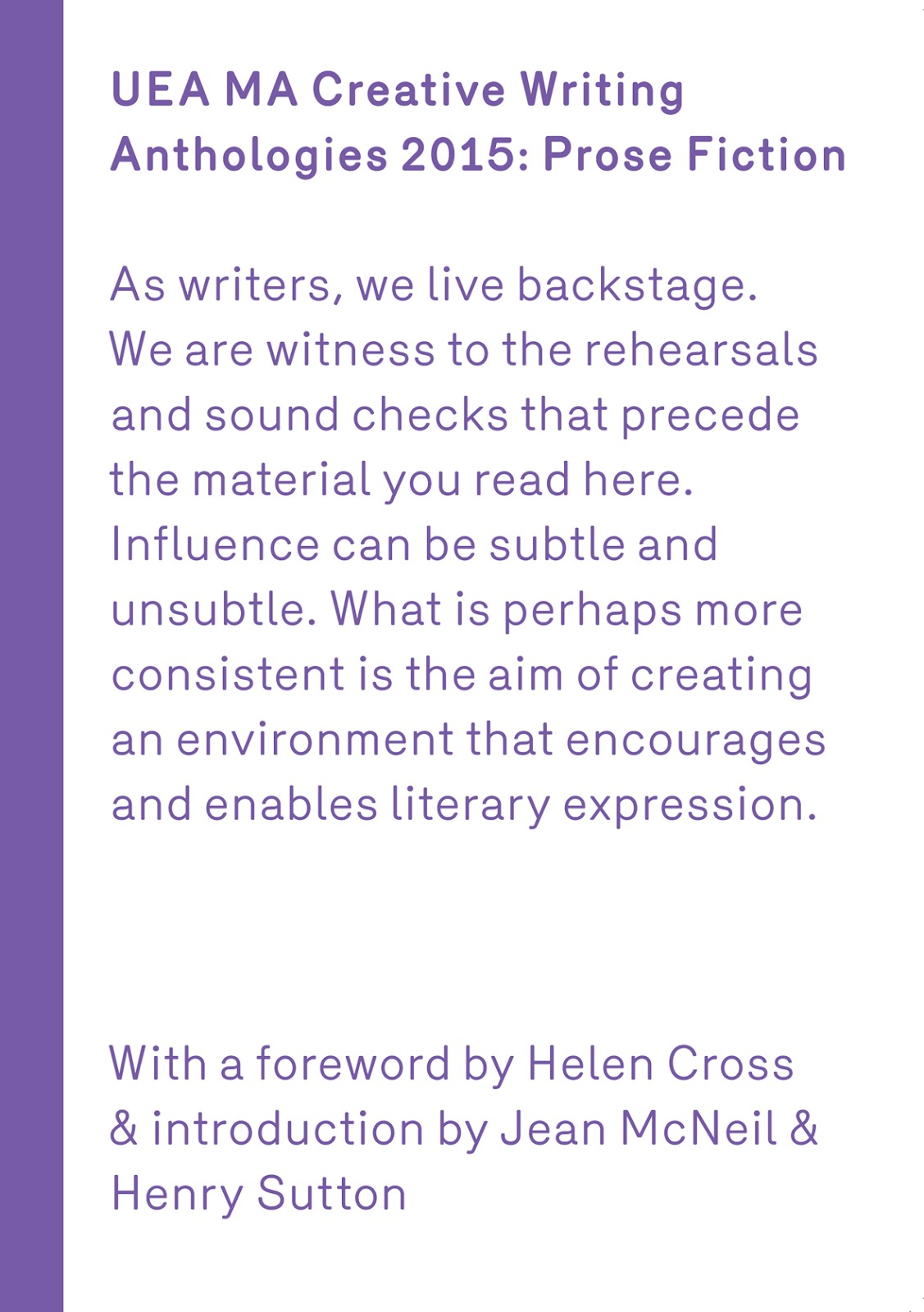 UEA Creative Writing Anthology Prose 2015