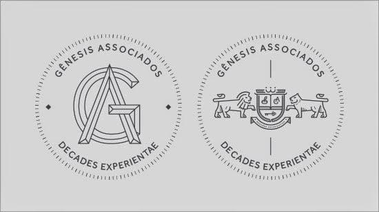 Bold & Thin line Logo Genesis Associates