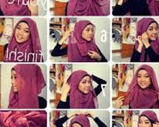 cara memakai jilbab segi empat untuk sekolah dasar