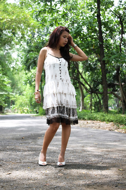 KT lifestyle white dress