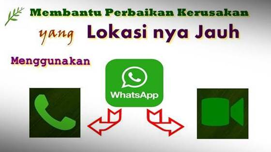Service Perbaikan kerusakan menggunakan whatsapp