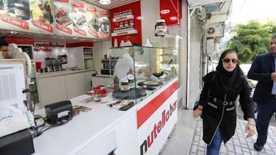 imagen de un establecimiento de nutella en iran