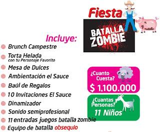 Fiesta cumpleaños zombie campestre Bogota
