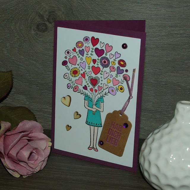 [DIY] Bouquet of Hearts Mother´s Day Card  Ein Blumenstrauß voller Herzen Karte zum Muttertag