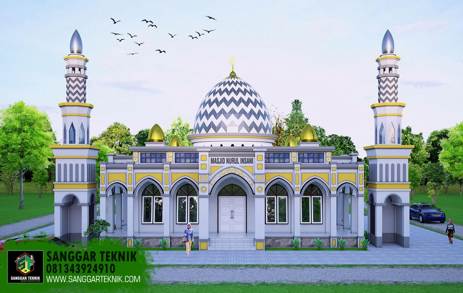 78  Gambar Masjid Minimalis Tampak Depan Paling Bagus