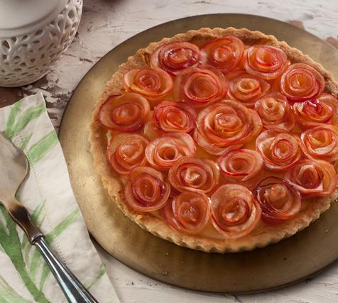 Torta de Rosas de Maçã, imagem Padre Bernardo, Goias, receita, dia das mães, sobremesa