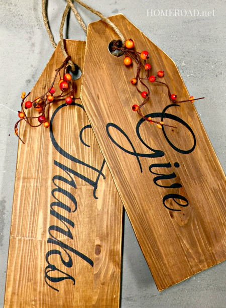 Repurposed Holiday Door Tags www.homeroad.net