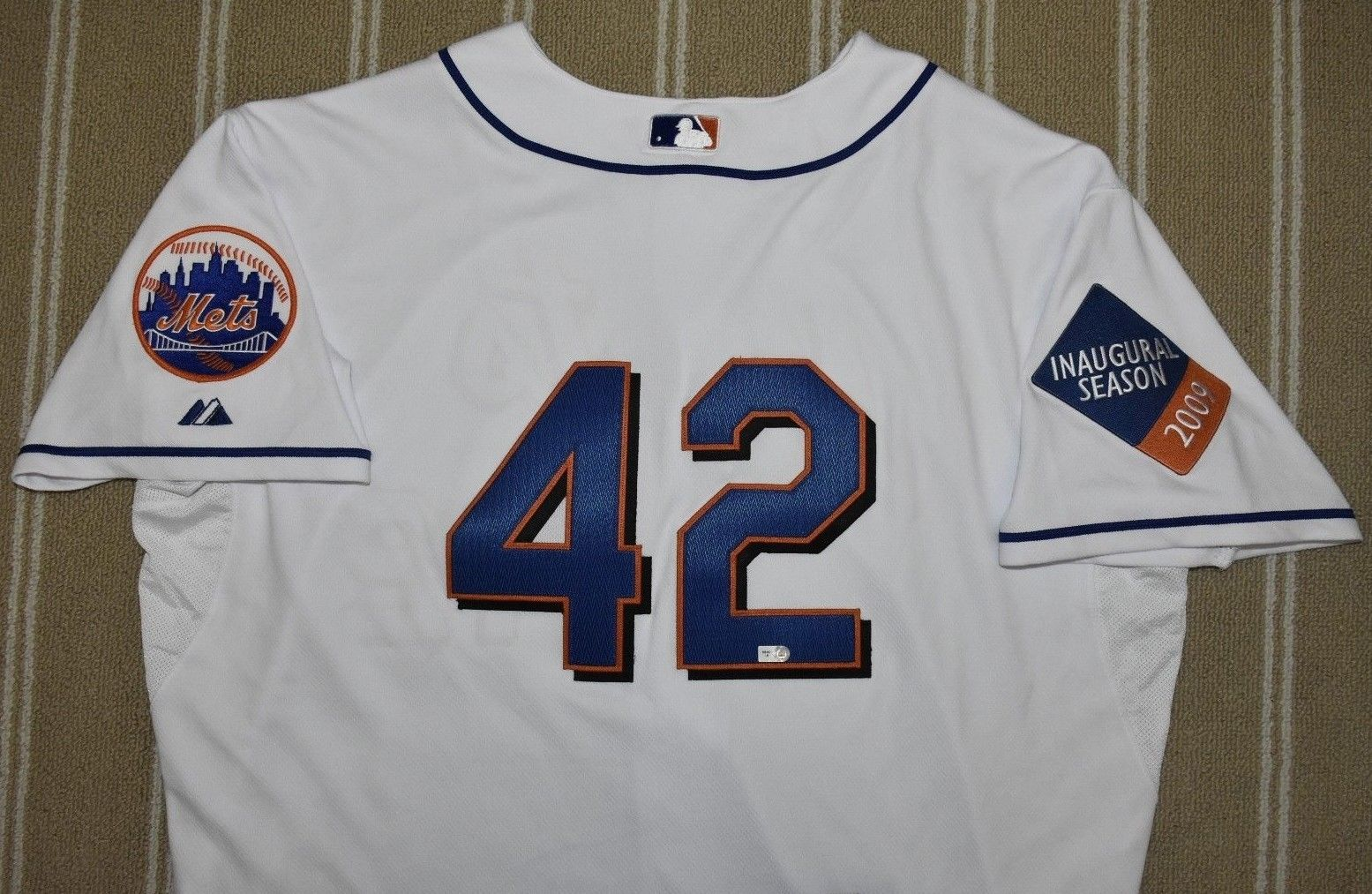 detailed look 58d46 5f76d TheMediagoon.com: Game Used Razor Shines Jackie Robinson Jersey