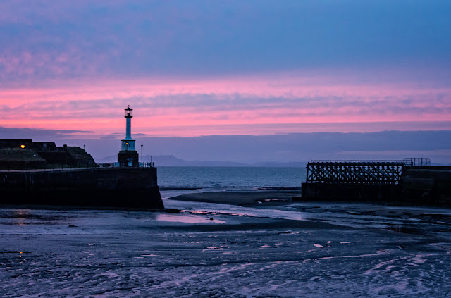 Photo of Maryport Lighthouse at sunset on Sunday