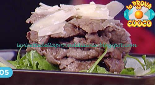 Prova del cuoco - Ingredienti e procedimento della ricetta Straccetti di manzo con rucola e aceto balsamico di Mauro Improta