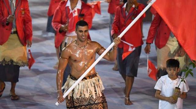 Kostum Pembukaan Tonga di Olimpiade RIO 2016