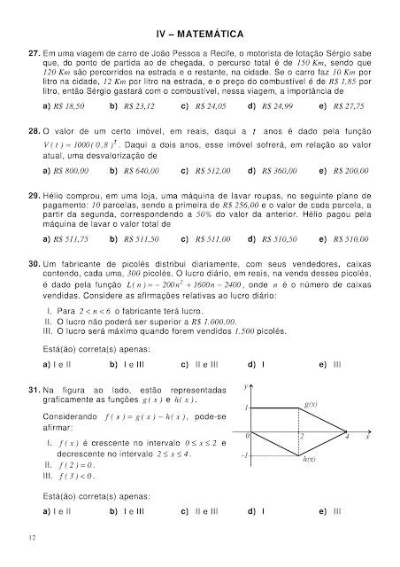 Atividades Matemática 1 Ano Ensino Médio