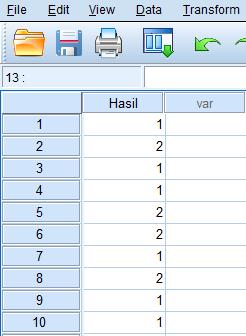 input data di spss statistik binomial test