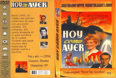Hoy como ayer | 1956 | Never Say Goodbye: Caratula, Dvd, Cover
