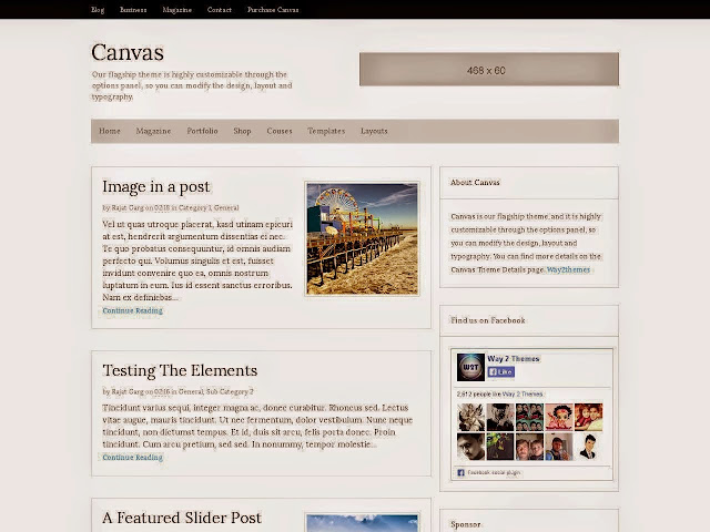 Canvas Niche Blogger Template Free Template