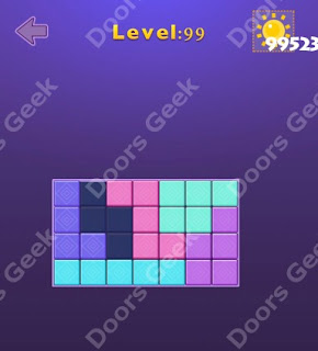 Cheats, Solutions, Walkthrough for Move Blocks Easy Level 99