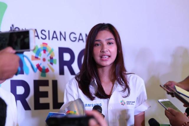 Mikha Tambayong Sosok Pemegang Obor Di Acara Asian Games 2018