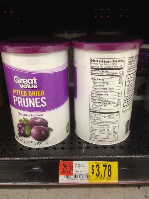 Pitted Dried Prunes, Great Value - 18 oz - Walmart