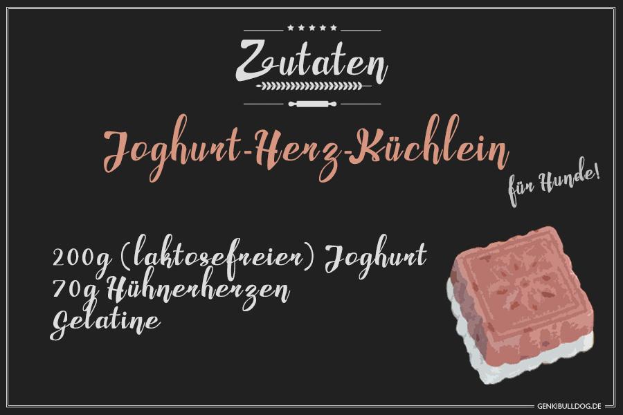 Rezept: getreidefreie Joghurt-Herz Kuchen für Hunde