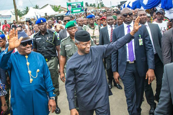 Image result for osinbajo launches fertilizer in rivers