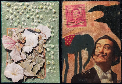White Bindweed Fairy / Dali meets Poe ATC