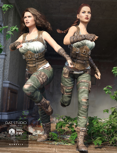 Relentless Mercenary Outfit for Genesis 3 Female