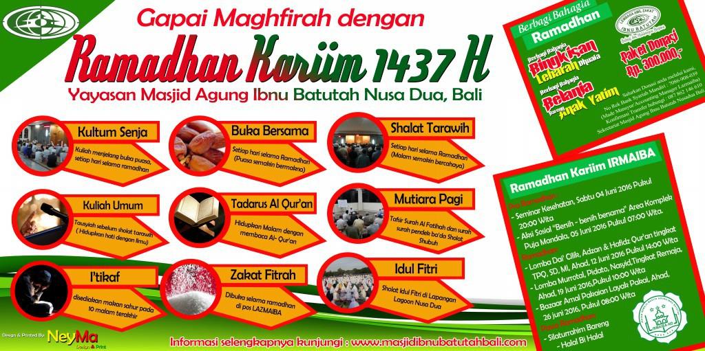 Jadwal Kegiatan Ramadhan Kariim Masjid Agung Ibnu Batutah Nusa Dua Bali