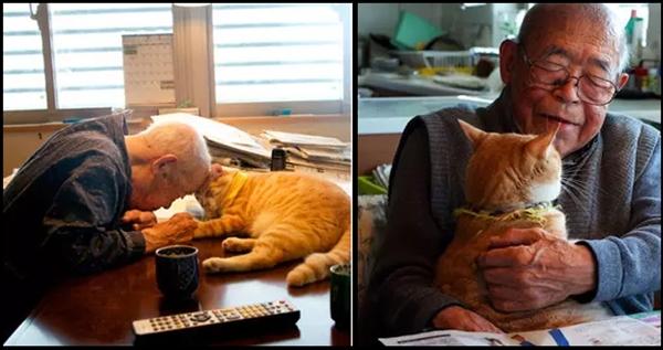 Mengharukan, Kakek Pemarah ini berubah Drastis karena Kucing Lucu ini
