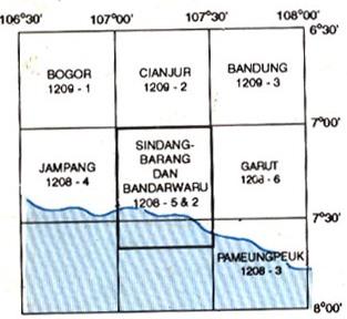 Peta Indeks Geologi Lembar Sindangbarang dan Bandarwaru