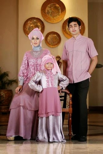 Contoh baju muslim couple keluarga terbaru