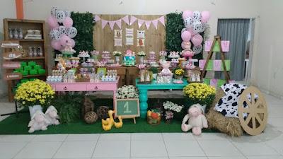 decoração fazendinha rosa