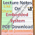 Lecture Notes on Embedded System PDF Download