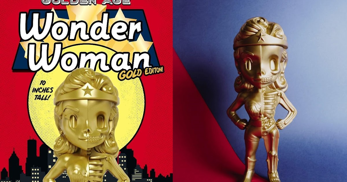 "Mighty Jaxx XXRAY DC Comics Golden Age 4/"" Wonder Woman Worldwide Free S//H"