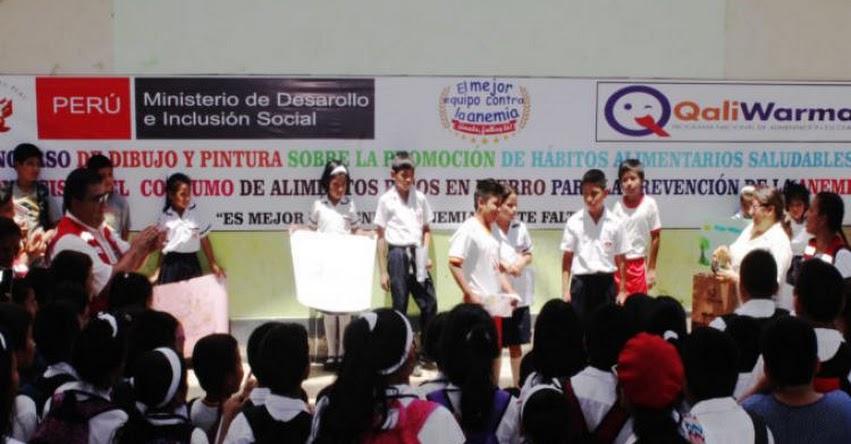 QALI WARMA: Programa social realizó primer concurso de dibujo y pintura sobre prevención de la anemia - www.qaliwarma.gob.pe
