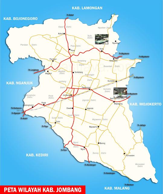 Gambar Peta Kabupaten Jombang