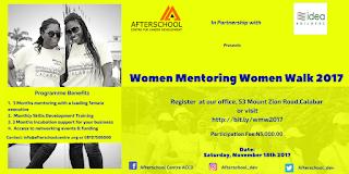 Women Mentoring walk Calabar