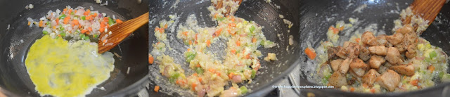 Step 4 How to prepare Chicken Fried Rice