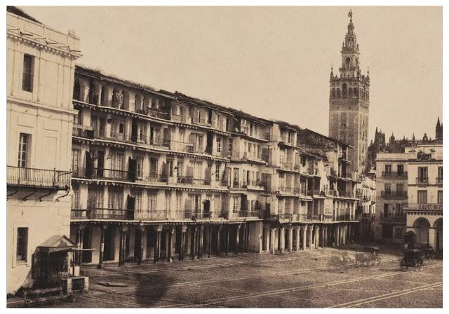 1853 Plaza de San francisco, Sevilla 1853. Foto de Edward King Tenison