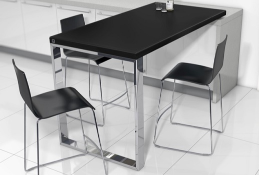 Mesas de cocina y comedor mostradores barras de cocina for Mesas de comedor altas